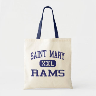 Saint Mary - Rams - High - Jersey City New Jersey Canvas Bags