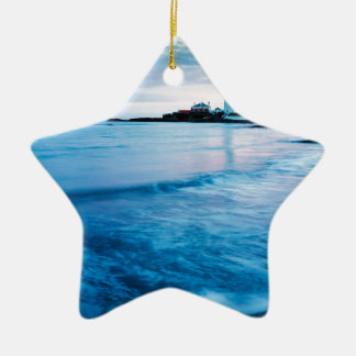 Saint Mary's Lighthouse at Whitley Bay Ceramic Star Decoration