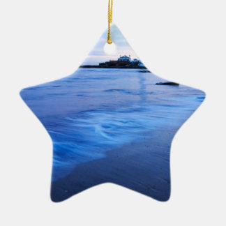 Saint Mary's Lighthouse at Whitley Bay Christmas Ornament