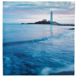 Saint Mary's Lighthouse at Whitley Bay Printed Napkins