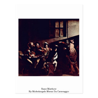 Saint Matthew By Michelangelo Merisi Da Caravaggio Postcard