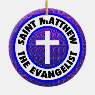 Saint Matthew the Evangelist Round Ceramic Decoration