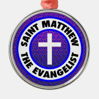 Saint Matthew the Evangelist Silver-Colored Round Decoration