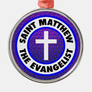Saint Matthew the Evangelist Silver-Colored Round Decoration
