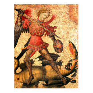 Saint Michael and the Dragon (15th Century) Postcard