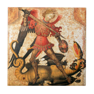 Saint Michael and the Dragon (15th Century) Tile