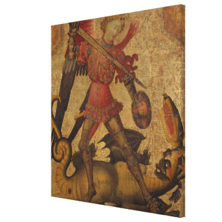 Saint Michael and the Dragon Canvas Print