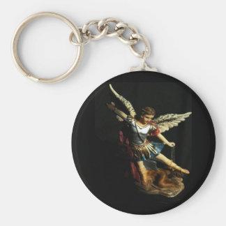 Saint Michael Angel keychain