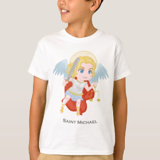 Saint Michael Archangel Cute Catholic T-Shirt