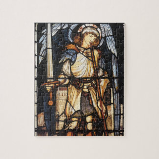 Saint Michael by Burne Jones, Vintage Archangel Jigsaw Puzzle