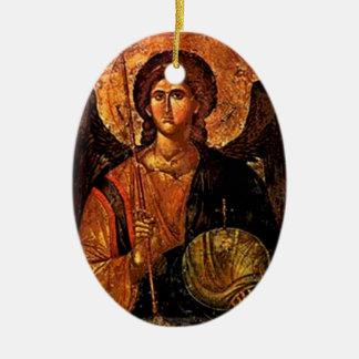 Saint Michael Ceramic Oval Decoration
