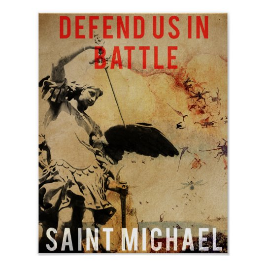 Saint Michael - Defend us in Battle! - Poster