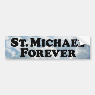 Saint Michael Forever - Basic Bumper Sticker