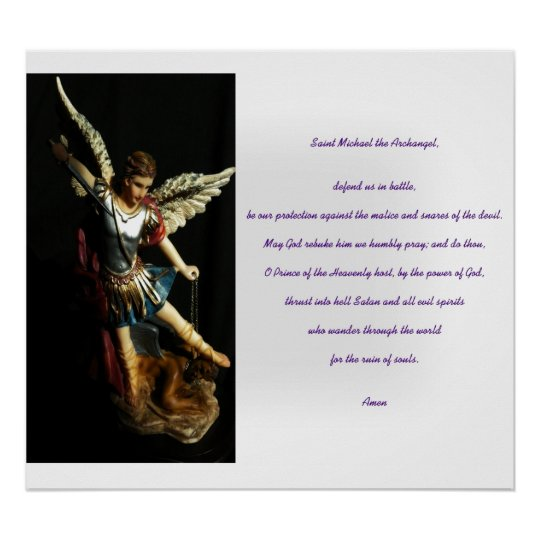 Saint Michael prayer Poster