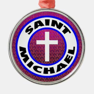 Saint Michael Silver-Colored Round Decoration