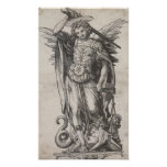Saint Michael the Archangel by Hans Holbein Poster