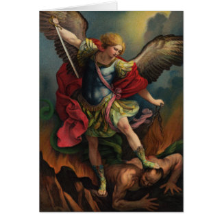 Saint Michael the Archangel Folded Card