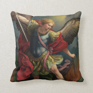 Saint Michael the Archangel Throw Pillow