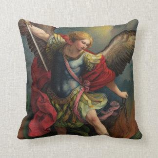 Saint Michael the Archangel Throw Pillow Cushion