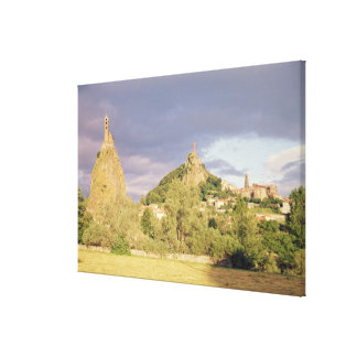 Saint Michel d'Aiguilhe, the Rocher Canvas Print