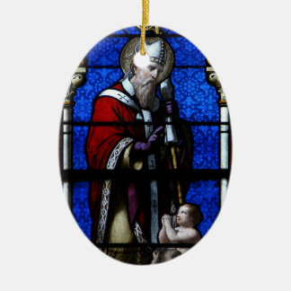 Saint Nicholas Blessings Stained Glass Christmas Ornament