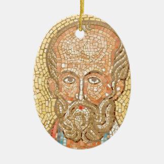 Saint Nicholas Ceramic Oval Decoration