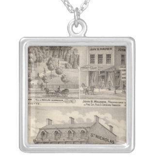 Saint Nicholas Hotel, La Fayette Silver Plated Necklace
