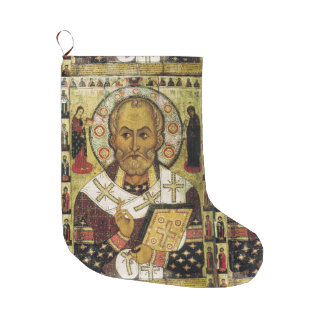 Saint Nicholas Icon Christmas Stocking