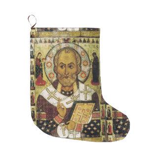 Saint Nicholas Icon Christmas Stocking Large Christmas Stocking