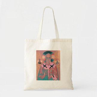 Saint Nicholas Icon Tote Bag