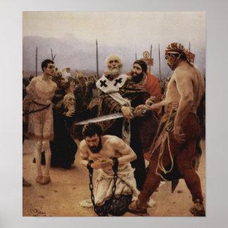 Saint Nicholas Saves Three Innocents from Death Poster