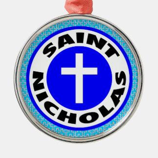 Saint Nicholas Silver-Colored Round Decoration