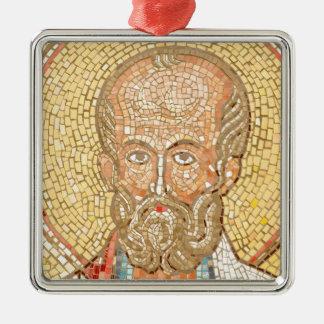 Saint Nicholas Silver-Colored Square Decoration