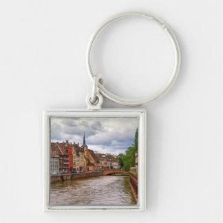 Saint-Nicolas dock in Strasbourg, France Key Ring