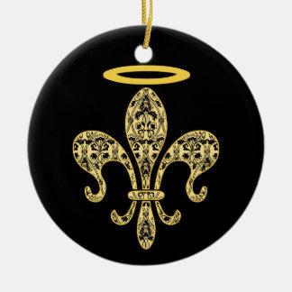 Saint NOLA Double-Sided Ceramic Round Christmas Ornament