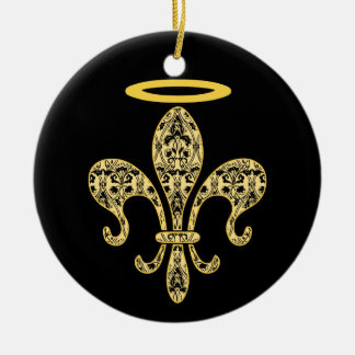 Saint NOLA Round Ceramic Decoration