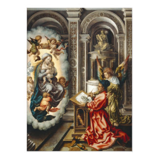 Saint Painting Mary and Baby Jesus 14 Cm X 19 Cm Invitation Card
