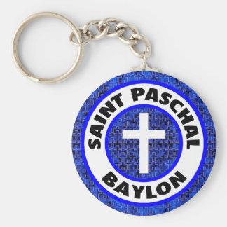 Saint Paschal Baylon Basic Round Button Key Ring