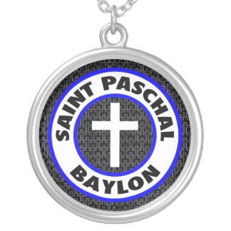 Saint Paschal Baylon Round Pendant Necklace