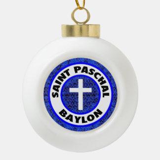 Saint Paschal Baylon Ceramic Ball Decoration