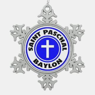 Saint Paschal Baylon Pewter Snowflake Decoration