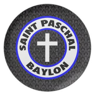 Saint Paschal Baylon Plate