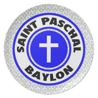 Saint Paschal Baylon Party Plate