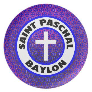 Saint Paschal Baylon Plates