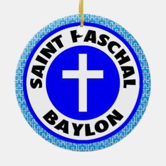 Saint Paschal Baylon Round Ceramic Decoration