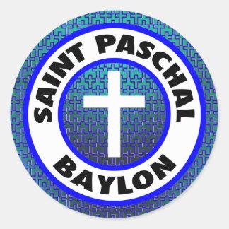 Saint Paschal Baylon Round Sticker
