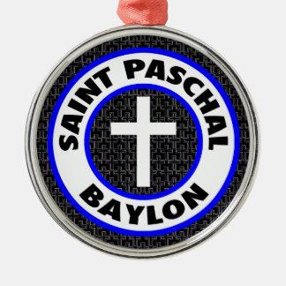 Saint Paschal Baylon Silver-Colored Round Decoration