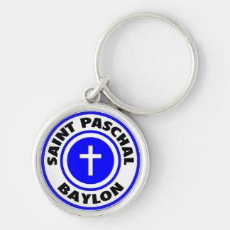 Saint Paschal Baylon Silver-Colored Round Key Ring