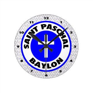 Saint Paschal Baylon Wall Clock
