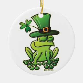 Saint-Patrick-Day-Frog Christmas Ornament
